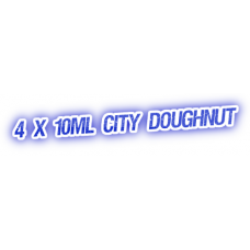 4 X City Doughnut E-Liquid by City Vape