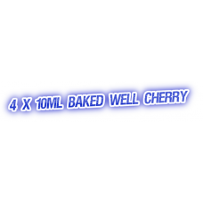4 X Baked Well Cherry E-Liquid by City Vape