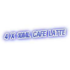 4 X Cafe Latte E-Liquid by City Vape
