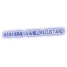 4 X Vanilla Custard E-Liquid by City Vape