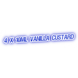 4 X Vanilla Custard E-Liquid by City Vape
