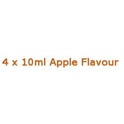 4 x 10ml Apple E Liquid By Diamond Mist