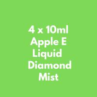 4 x 10ml Apple E Liquid  Diamond Mist