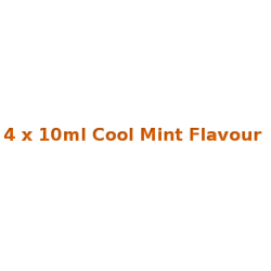 4 x 10ml Cool Mint E Liquid  Diamond Mist