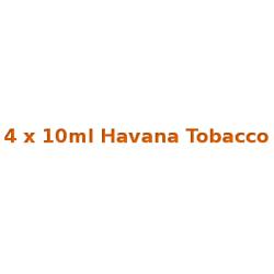 4 x 10ml Havana Tobacco E Liquid By Diamond Mist