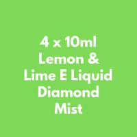 4 x 10ml Lemon & Lime E Liquid  Diamond Mist