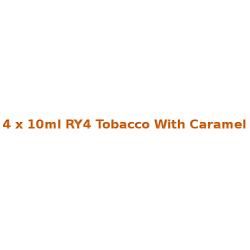 4 x 10ml RY4 Tobacco With Caramel E Liquid By Diamond Mist