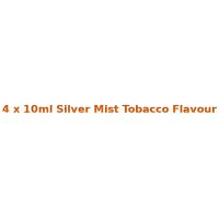 4 x 10ml Silver Mist Tobacco E Liquid By Diamond Mist