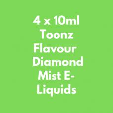 4 x 10ml Toonz Flavour  Diamond Mist E-Liquids