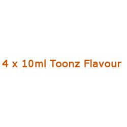 4 x 10ml Toonz Flavour By Diamond Mist E-Liquids