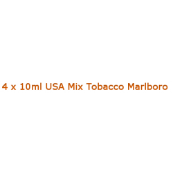 4 x 10ml USA Mix Tobacco Marlboro E Liquid By Diamond Mist