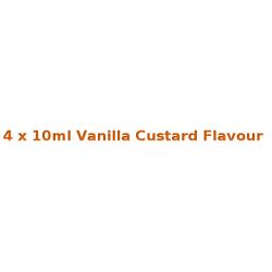 4 x 10ml Vanilla Custard E Liquid By Diamond Mist