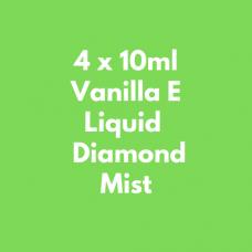 4 x 10ml Vanilla E Liquid  Diamond Mist