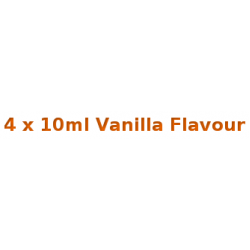 4 x 10ml Vanilla E Liquid By Diamond Mist