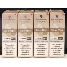4 x 10ml Diamond Mist Silver Mist 20mg Nic Salt 10ml